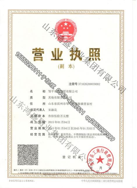 乐厨商贸分公司荣誉证书
